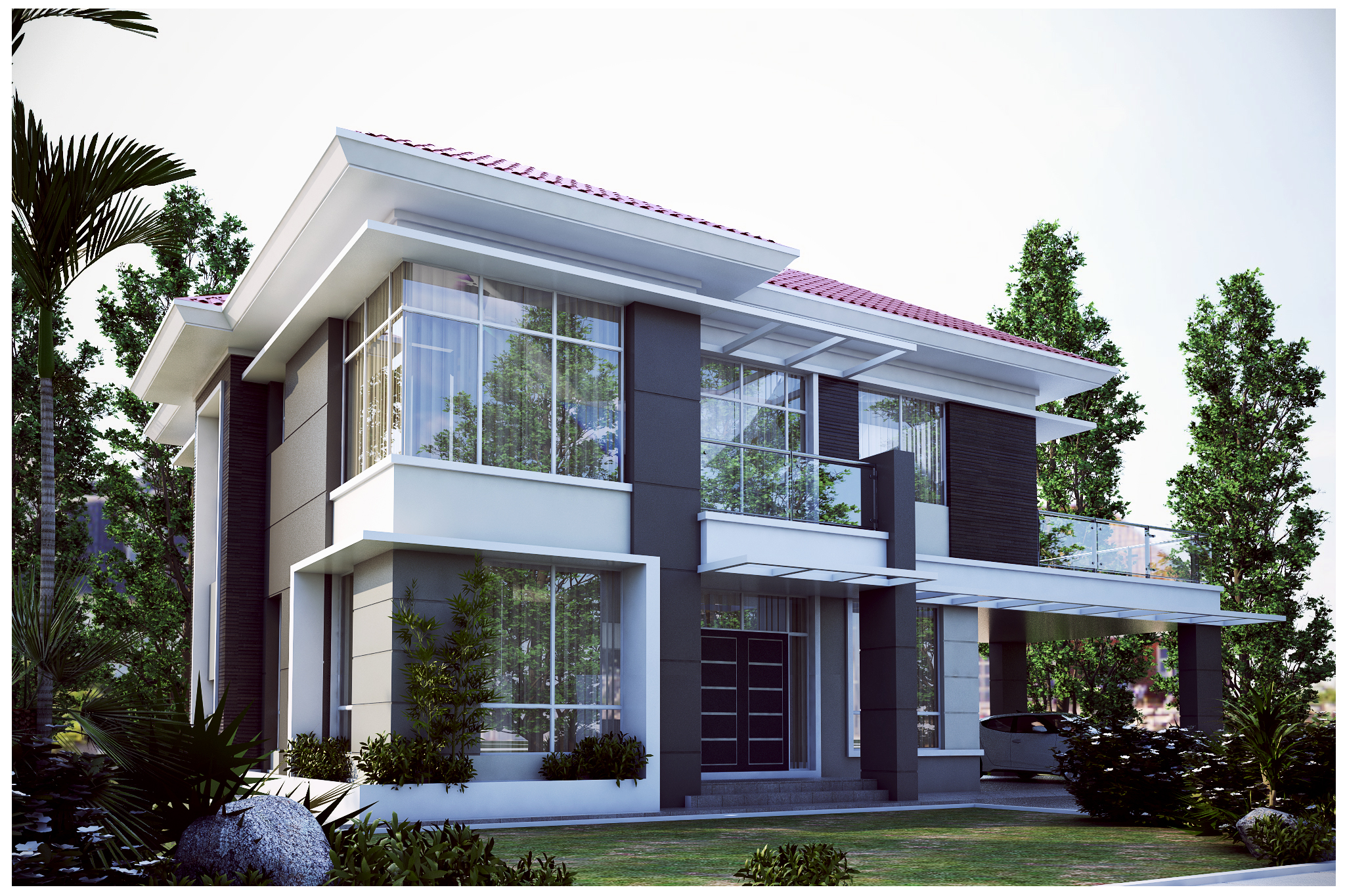 Three Bedrooms For Rent Pan Villa Properties Proposed The Palm Double Storey