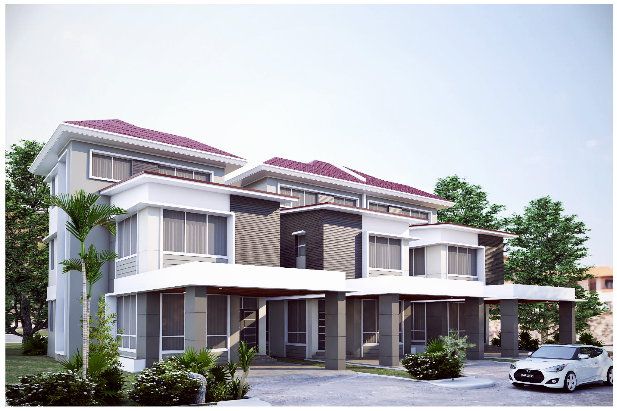 Pan villa properties proposed the palm tanah jambu 3 for Terrace of the house