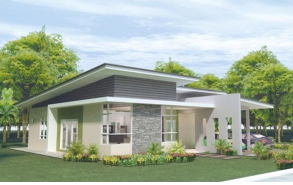 Pan villa properties proposed single storey bungalow at for Single story house