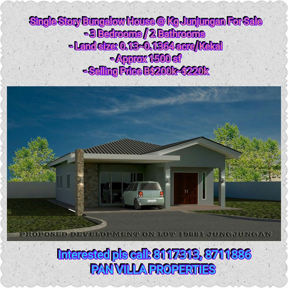 Pan villa properties new single storey bungalow house for Bungalow home for sale