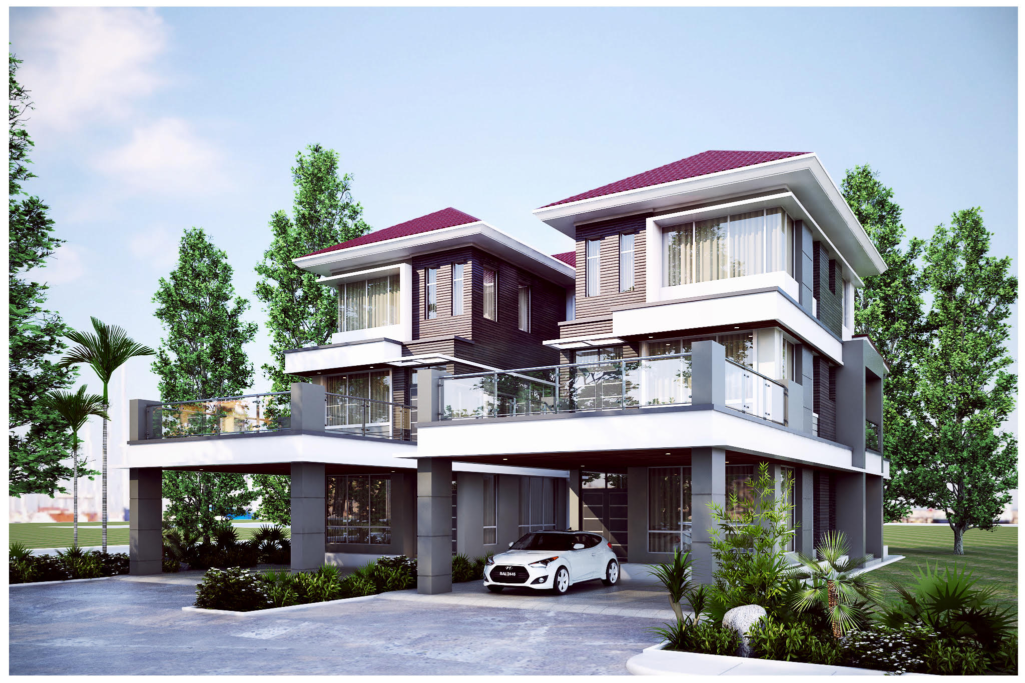 Pan Villa Properties Proposed The Palm 3 Storey Semi